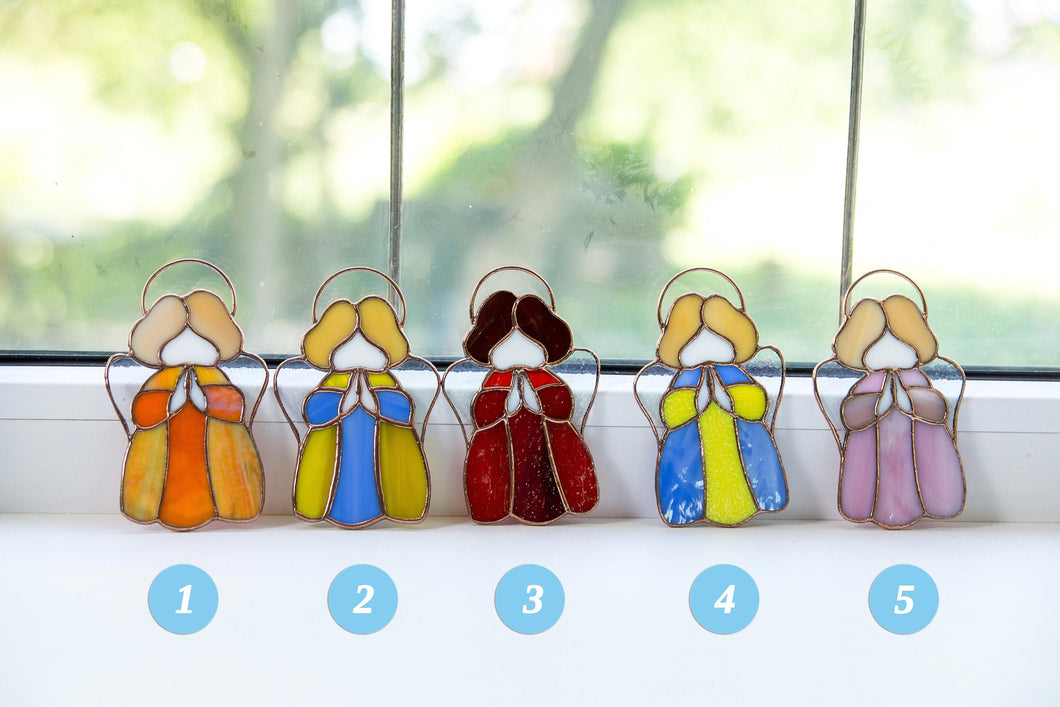 Numbered stained glass angels