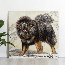Load image into Gallery viewer, Stained glass dog mosaic - Tibetan Mastiff portrait from photo