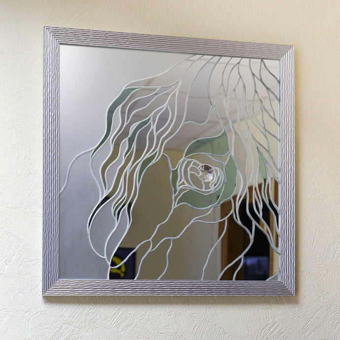 Arabian horse of stained glass mirror mosaic wall art