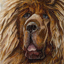 Load image into Gallery viewer, Zoomed stained glass Tibetan Mastiff's snout wall hanging