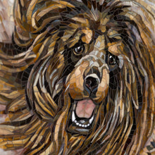Load image into Gallery viewer, Zoomed stained glass snout of Tibetan Mastiff mosaic