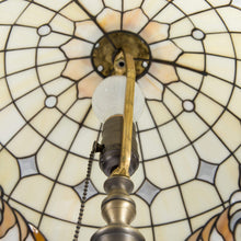 Load image into Gallery viewer, Stained glass Tiffany classic lamp from the inside