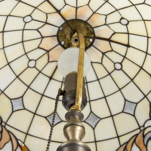 Stained glass Tiffany classic lamp from the inside