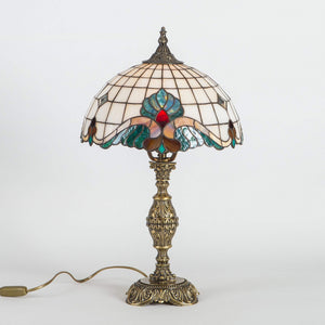 Tiffany stained glass lamp Art nouveau lamp gift for mom bedroom night light