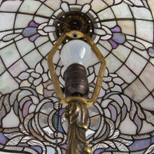 Load image into Gallery viewer, Stained glass Tiffany lampshade from the inside