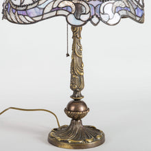 Load image into Gallery viewer, Bronze base of a stained glass Tiffany lamp