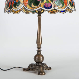 Unique Tiffany lamp stained glass lampshade 8th anniversary gift for wife bedside table lamp