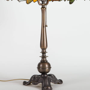 Stained glass Tiffany dragonfly lamp base