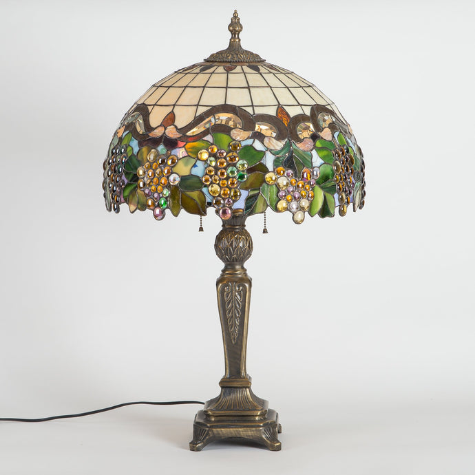 Grapes stained glass lamp shade