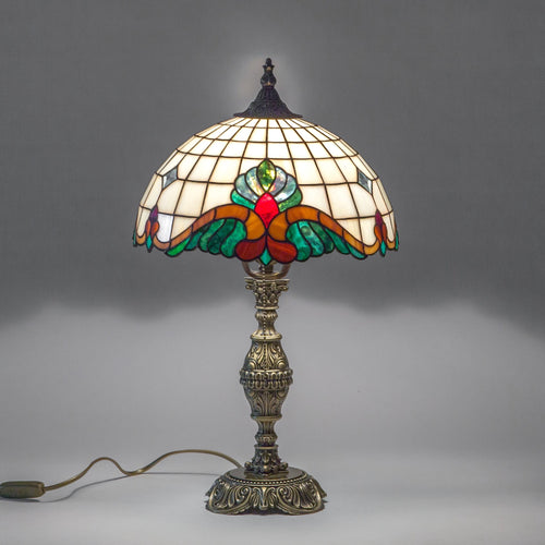 Bedside stained glass art nouveau Tiffany lamp