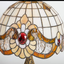 Load image into Gallery viewer, Unique stained glass lamp shade / Tiffany art nouveau lamp first housewarming gift for mom
