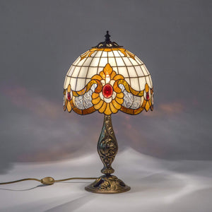 Unique stained glass lamp shade / Tiffany art nouveau lamp first housewarming gift for mom