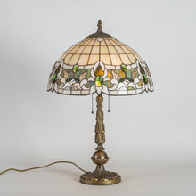 Load image into Gallery viewer, Tiffany lamp shade in green and beige shades