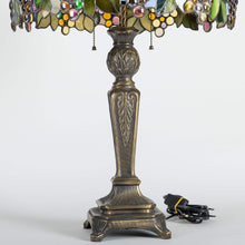 Load image into Gallery viewer, Grapes stained glass lamp shade / Tiffany lamps / Unique lamp gift for birthday