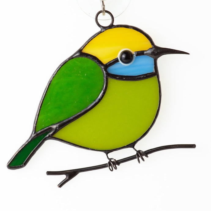 Hummingbird stained glass bird suncatcher Bee eater stained glass window hangings 7th anniversary gift