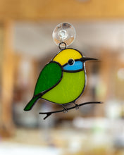 Load image into Gallery viewer, Hummingbird stained glass bird suncatcher Bee eater stained glass window hangings 7th anniversary gift