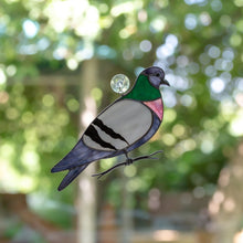 Load image into Gallery viewer, Stained glass pigeon window hanging