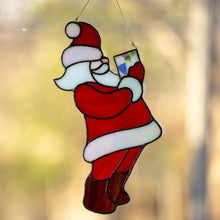 Load image into Gallery viewer, Stained glass Christmas decorations for home Santa Claus ornament