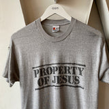 80,s Property of Jesus Tee - Large