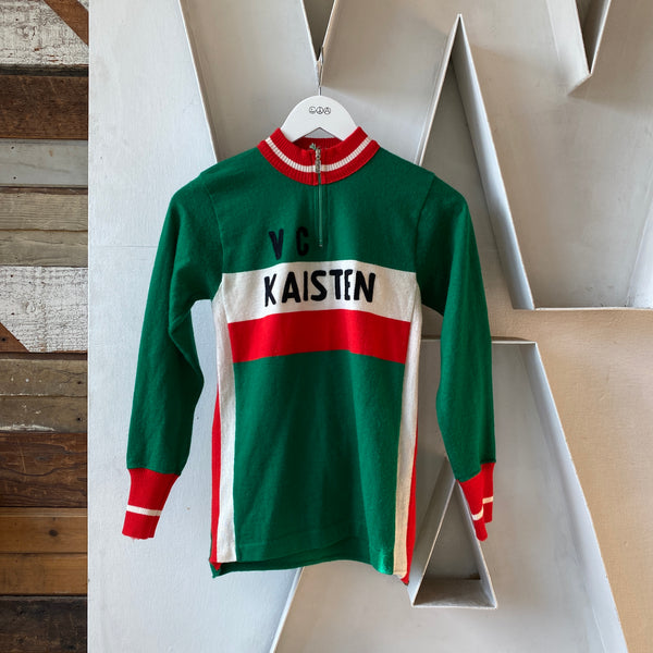 70's Wool Cycling Jersey - Small