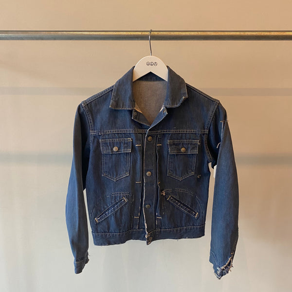 60's Foremost Pleated Denim Jacket - XS