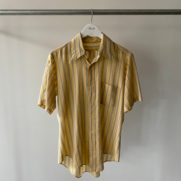 Thin Yellow Button up - Large