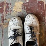 Wingtip White Oxford Shoes - W's 7.5 M's 6