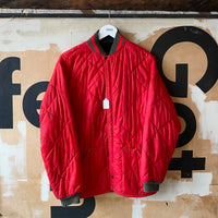 70's Quilted Red Jacket - Large
