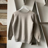 60s Grey Raglan Sweat - Medium