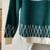 70's JC Penney Acrylic Sweater - Small
