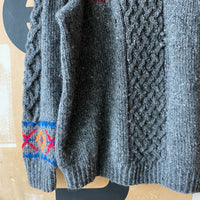 80's Hand Knit Sweater - Large