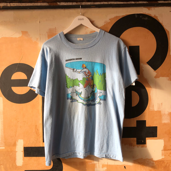 70's Nike Pinwheel Fishing NW Tee - Large
