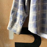 80's Destroyed Cotton Flannel - Large