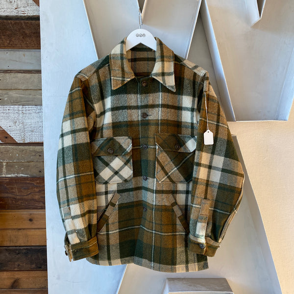 70's Green Flannel Jacket - Medium