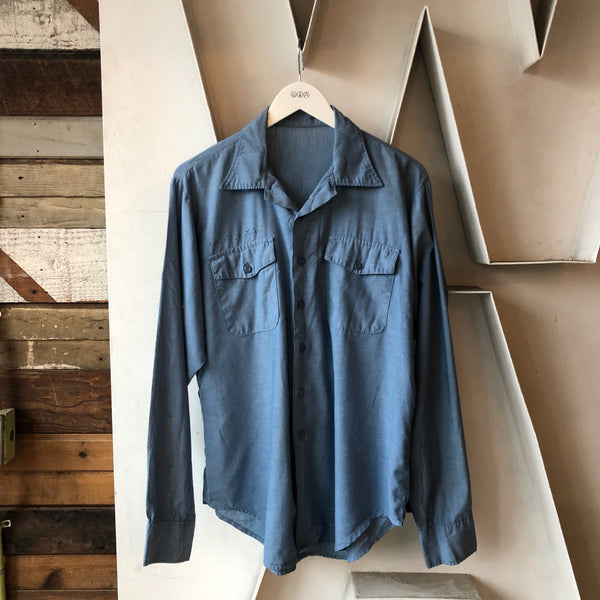 60's Stamped Chambray - Large