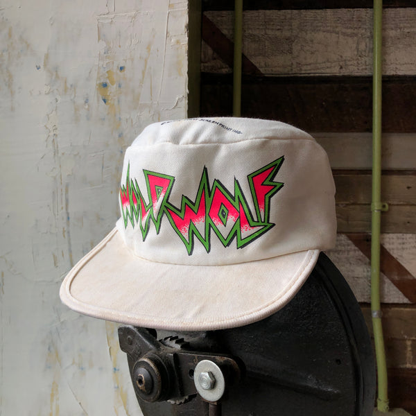 80's Wild Wolf Painters Cap - OS