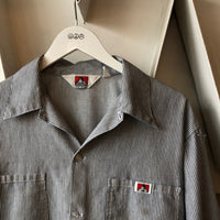 Ben Davis Hickory Stripe Shirt - Large