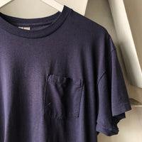 80's Blue Pocket Tee - Large