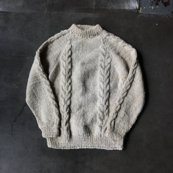 80's Cable Knit Sweater - Large