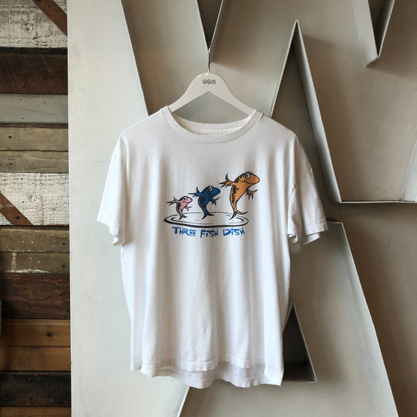 90's Dr Seuss Fish Tee - Large