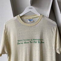 "80's Paper Thin ""Love"" Tee - Large"