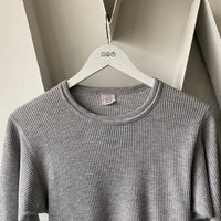 80's Grey Thermal Shirt - Medium