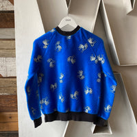 80's Fuzzy Unicorn Crewneck - Small