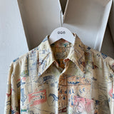 70's Kmart Patterned Button Up - Medium