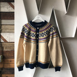 60's Patterned Cardigan - M/L