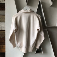 60's White 1/4 Zip Sweat - Medium