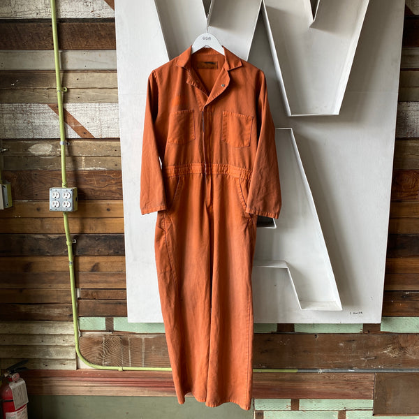 Burnt Orange Coveralls - Small