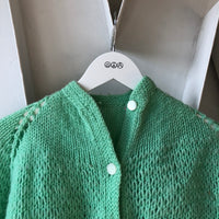 Hand Knit Teal Sweater - XS