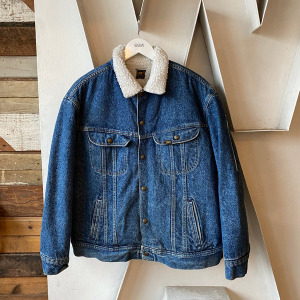 80's Lee Sherpa Denim Jacket - XL