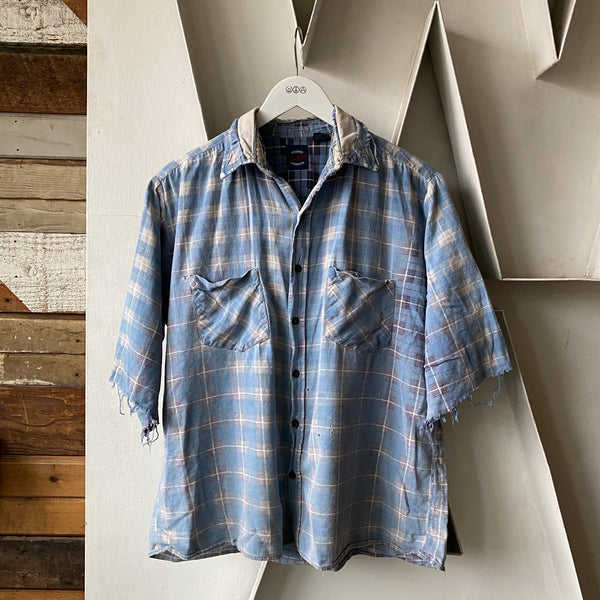80's Thrashed Cotton Flannel - Large